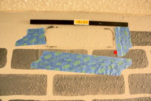 Learn how to stencil a Brick Allover pattern in a hallway. http://www.cuttingedgestencils.com/bricks-stencil-allover-pattern-stencils.html