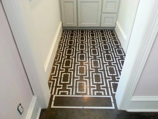 Patterned Floors Stenciled To Perfection