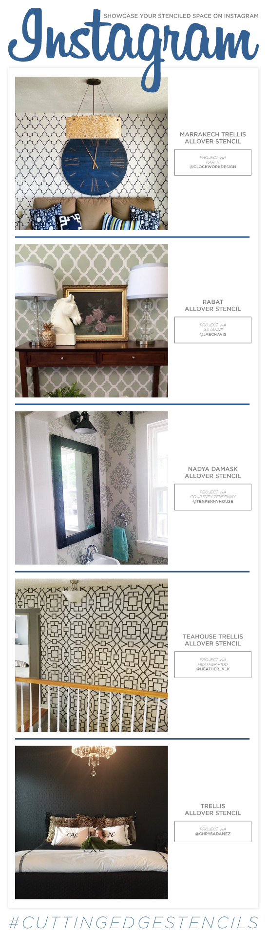 Cutting Edge Stencils shares DIY stenciled room ideas. http://www.cuttingedgestencils.com/wall-stencils-stencil-designs.html