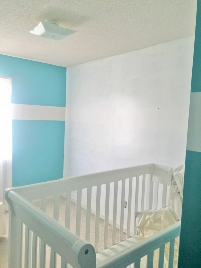 The nursery before its stenciled makeover. http://www.cuttingedgestencils.com/tribal-arrow-pattern-stencils-wall-decor.html