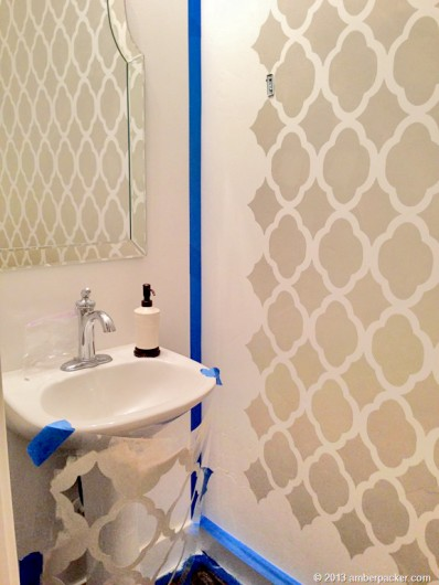 Stencils Boast Big Style In A Powder Room Stencil Stories