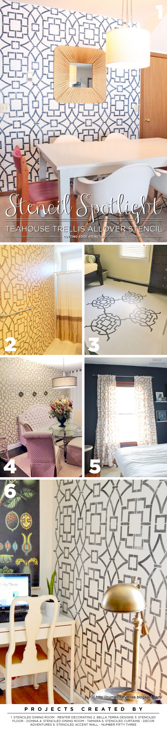 Stencil Spotlight Tea House Trellis