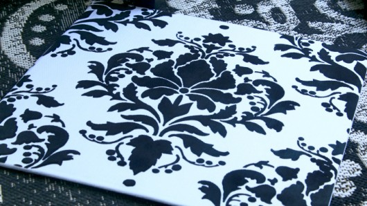 Stenciling a DIY outdoor accent pillow using the Wild Berry Damask Paint-A-Pillow kit. http://paintapillow.com/index.php/wild-berry-damask-paint-a-pillow-kit.html