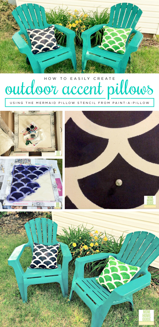 Cutting Edge Stencils shares how to make DIY outdoor accent pillows using Paint-A-Pillow. http://paintapillow.com/index.php/mermaid-paint-a-pillow-kit.html