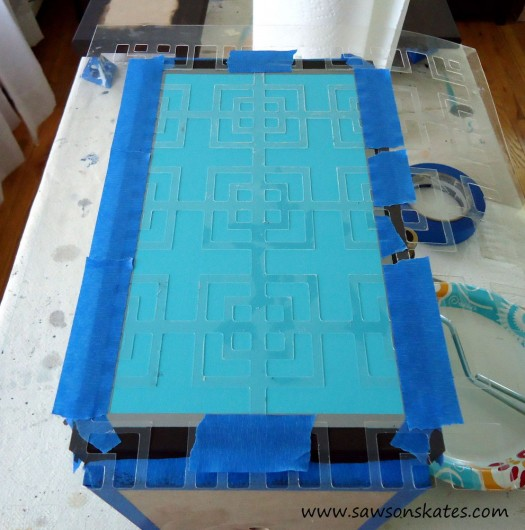 How to stencil a DIY lamp base using the Fusion Craft Stencil. http://www.cuttingedgestencils.com/craft-stencil-pattern.html