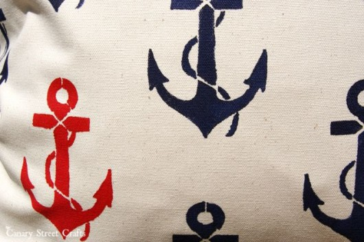 Stenciling a DIY nautical stenciled accent pillow using the Anchors Away Paint-A-Pillow kit. http://paintapillow.com/index.php/anchors-away-paint-a-pillow-kit.html
