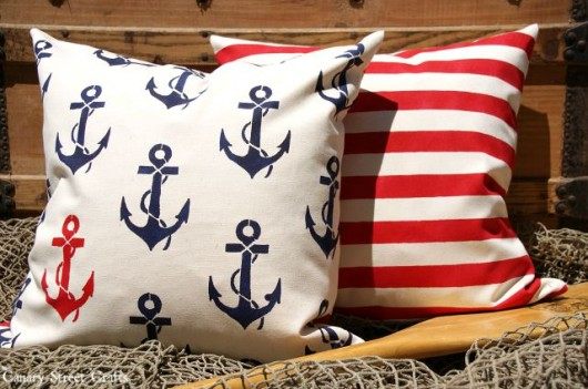 Cutting Edge Stencils shares DIY nautical stenciled accent pillows using the Anchors Away Paint-A-Pillow kit. http://paintapillow.com/index.php/anchors-away-paint-a-pillow-kit.html