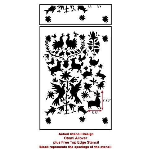 The Otomi Allover Tribal Stencil from Cutting Edge Stencils. http://www.cuttingedgestencils.com/otomi-tribal-wall-pattern-stencil.html