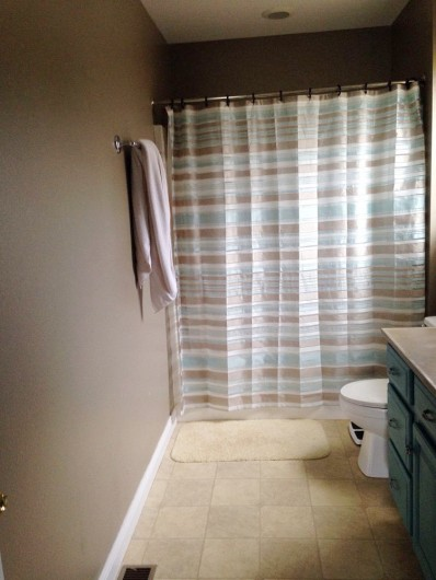 A DIY bathroom makeover- before shot.