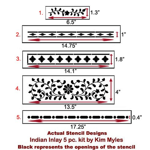 Indian Inlay Stencil kit from Cutting Edge Stencils. http://www.cuttingedgestencils.com/indian-inlay-stencil-furniture.html