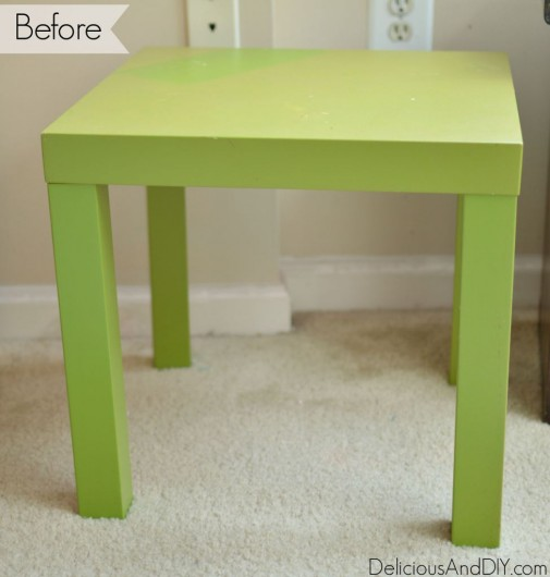 A small side table before its stenciled makeover.  http://www.cuttingedgestencils.com/indian-inlay-stencil-furniture.html