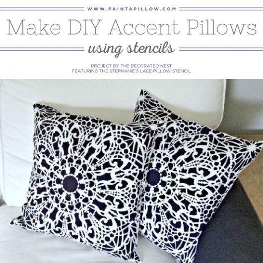 Make Diy Accent Pillows Using Stencils