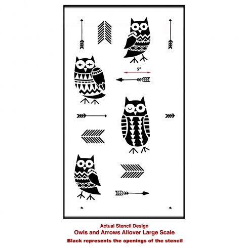 owls-arrows-allover-large-stencil-wall-pattern