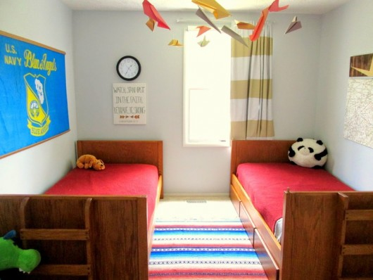 A boys bedroom before a makeover.