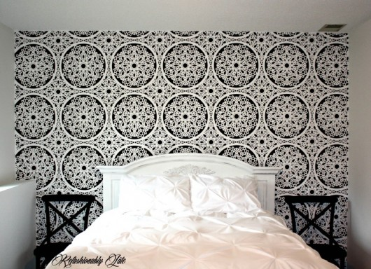 Decorate A Guest Bedroom With Stencils on nursery ideas with dark furniture, dark cherry furniture, grey walls with brown leather furniture, bedroom furniture layout ideas, white wood furniture, bedroom painted furniture ideas, cape cod furniture, bedroom ideas with twin bed, color schemes for dark furniture, best color with cherry furniture, modern home furniture, painting ideas with dark furniture, bedroom colors for dark furniture, bedroom with antique wrought iron bed, bedroom colors with dark furniture, dark blue bedroom furniture, home decor ideas with dark furniture, dark wood furniture, mathis brothers furniture, bedroom makeover ideas,