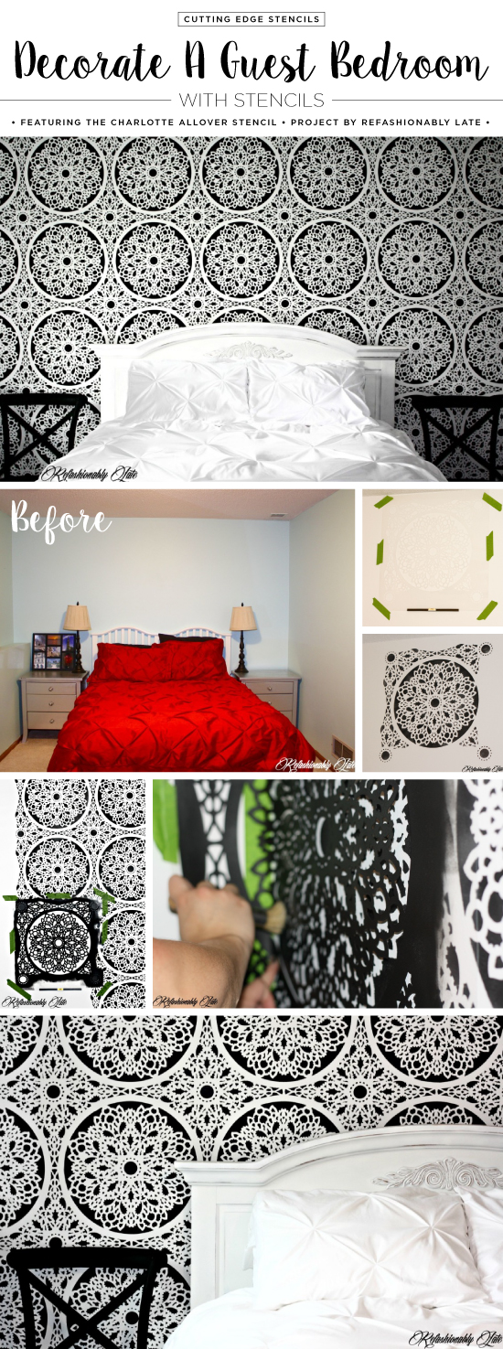 Decorate A Guest Bedroom With Stencils on bedroom makeovers on a budget, bedroom in love, bedroom sets, dining room product, bedroom flooring product, bedroom lighting product, bedroom product designs, modern bedroom product, bedroom dressers, bedroom decoration product, bedroom games product, bedroom decor, bedroom themes, bedroom storage product, bedroom doors product, bedroom curtains product, bedroom designs 2015, bedroom ideas, bedroom designs for small rooms, bedroom appliances product,