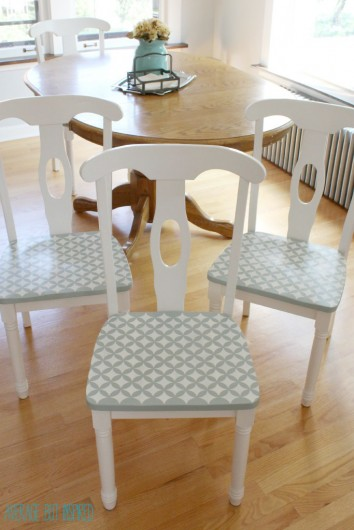 How to Stencil Kitchen Chairs and a Giveaway! White Kitchen Dining Room Ideas Html on kitchen rugs ideas, kitchen wall space ideas, kitchen dining cabinets, family room room ideas, kitchen dining garden, kitchen breakfast room ideas, kitchen tv room ideas, kitchen dining fireplace, kitchen backyard ideas, kitchen mud room ideas, kitchen under stairs ideas, kitchen storage room ideas, kitchen library ideas, kitchen dining home, kitchen staircase ideas, kitchen breakfast counter ideas, kitchen back porch ideas, living room ideas, kitchen dining interior design, kitchen dining contemporary,