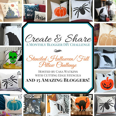 A Create and Share: Stenciled Halloween/Fall Pillow Challenge and giveaway. http://www.cuttingedgestencils.com/accent-pillow-stencil-kits.html