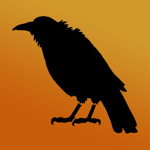 The Crow Craft Stencil from Cutting Edge Stencils is perfect for crafts, pillows, and treat tote bags. http://www.cuttingedgestencils.com/crow-stencil-halloween-accent-pillows-trick-or-treat-totes.html