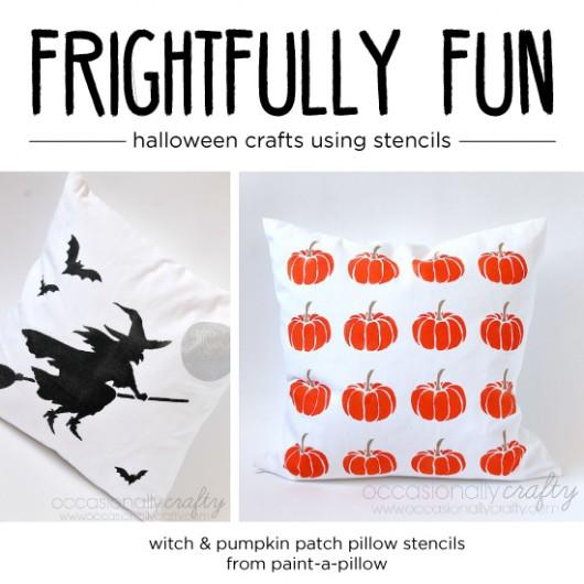 Frightfully Fun Halloween Crafts Using Stencils