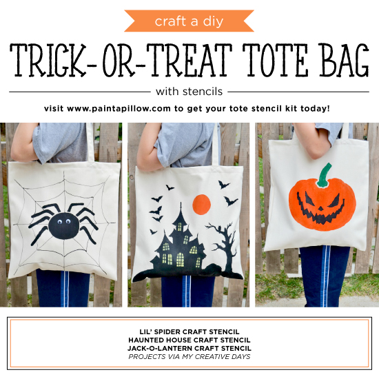 Craft a DIY Trick-Or-Treat Tote Bag With Stencils
