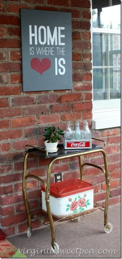 A DIY stenciled sign using the Home Is Where The Heart Is Quote Stencil on canvas. http://www.cuttingedgestencils.com/home-is-wall-quote-stencil.html