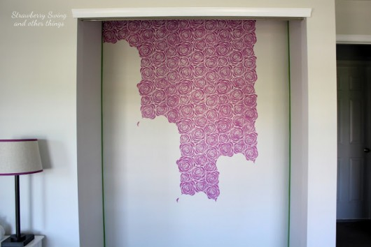 Stenciling A DIY Closet Using The Roses Allover Stencil In Radiant Orchid  Purple. Http: