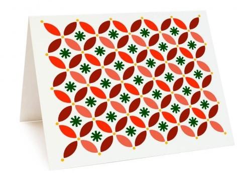 A DIY Christmas Card using the Holiday Cheer Card Stencil. http://www.cuttingedgestencils.com/holiday-cheer-card-making-template-stencils.html