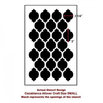 The Casablanca Craft Stencil from Cutting Edge Stencils. http://www.cuttingedgestencils.com/craft-furniture-stencil.html