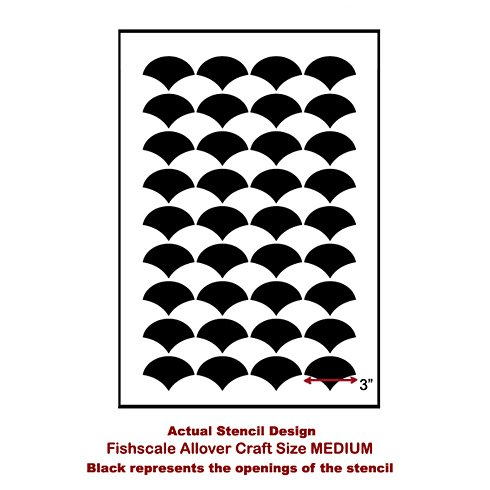 The Fishscale Allover Stencil from Cutting Edge Stencils. http://www.cuttingedgestencils.com/pattern-stencil-1.html