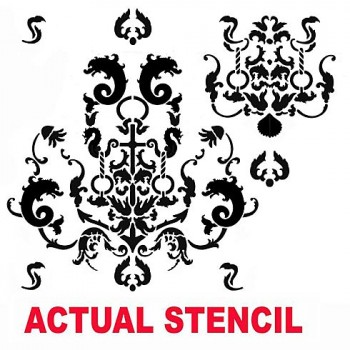 The Oceana Damask Stencil from Cutting Edge Stencils. http://www.cuttingedgestencils.com/stencil-nautical-decor.html