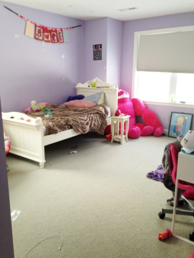 A tween girl bedroom before its makeover. http://www.cuttingedgestencils.com/stencil-nautical-decor.html