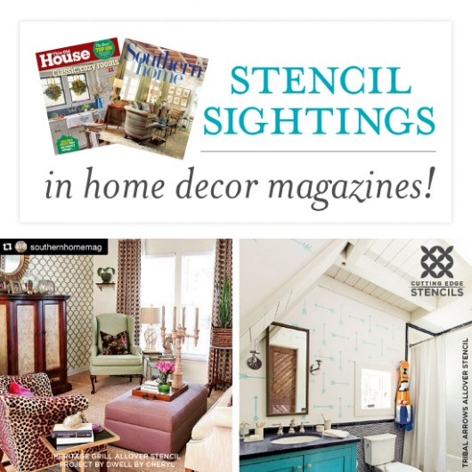 Stencil Sightings In Home Decor Magazines! on kitchen designs, home business designs, home shelves designs, dining room sets designs, bar furniture designs, plastic flower designs, home freshome design, lighted designs, brooches designs, tapestries designs, monograming designs, designer jewelry designs, clean home designs, design studio designs, decorative painting designs, cool mom designs, wooden desk clock designs, home jewelry designs, white furniture designs, decorative throw pillow designs,