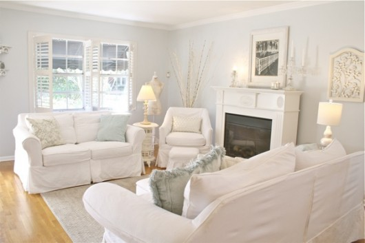 A DIY Stenciled Accent Wall In A Hollywood Regency Styled Living Room  Makeover Using The Flock