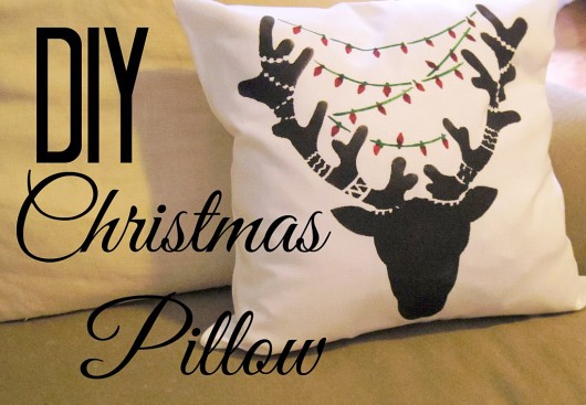 Learn how to stencil a DIY Holiday accent pillow using the Reindeer Paint-A-Pillow kit. http://www.cuttingedgestencils.com/reindeer-diy-accent-pillows-holiday-home-decor.html