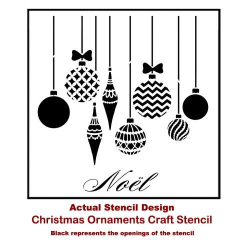 Christmas Ornaments from Cutting Edge Stencils.  http://www.cuttingedgestencils.com - Decorate A Mirror With Christmas Stencils