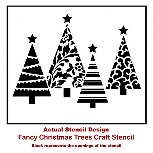 fancy christmas tree craft stencil from cutting edge stencils httpwww - Fancy Christmas Tree