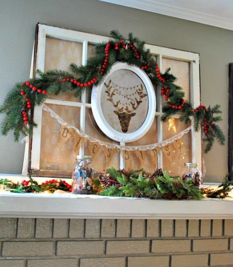 A DIY rusted piece of wall art using the Reindeer Craft Stencil from Cutting Edge Stencils. http://www.cuttingedgestencils.com/reindeer-holiday-stencil-designs-for-diy-crafts.html