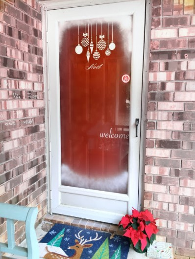 Learn How To Stencil A Glass Door For The Holidays