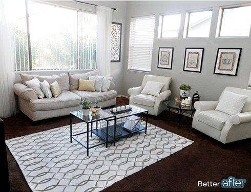 A DIY stenciled rug idea using the Entwined Allover Stencil from Cutting Edge Stecnils. http://www.cuttingedgestencils.com/stencil-pattern-2.html