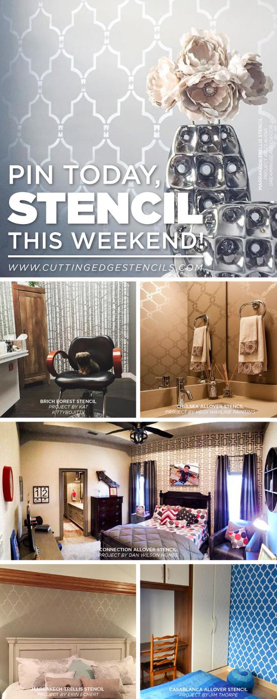 Cutting Edge Stencils shares pin-worthy DIY stenciled home decor projects. http://www.cuttingedgestencils.com/wall-stencils-stencil-designs.html