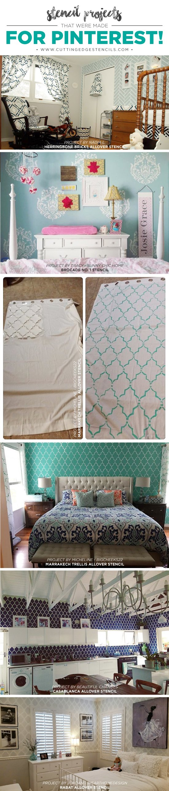 Cutting Edge Stencils shares DIY stenciled room ideas and home decor projects. http://www.cuttingedgestencils.com/wall-stencils-stencil-designs.html