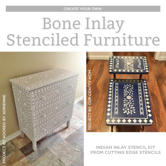 Create Your Own Bone Inlay Stenciled Furniture