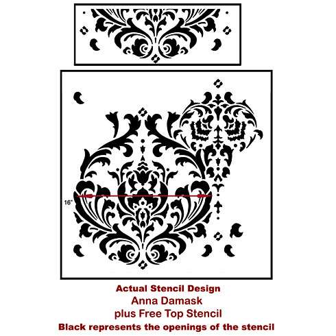 The Anna Damask Stencil from Cutting Edge Stencils. http://www.cuttingedgestencils.com/damask-stencil.html