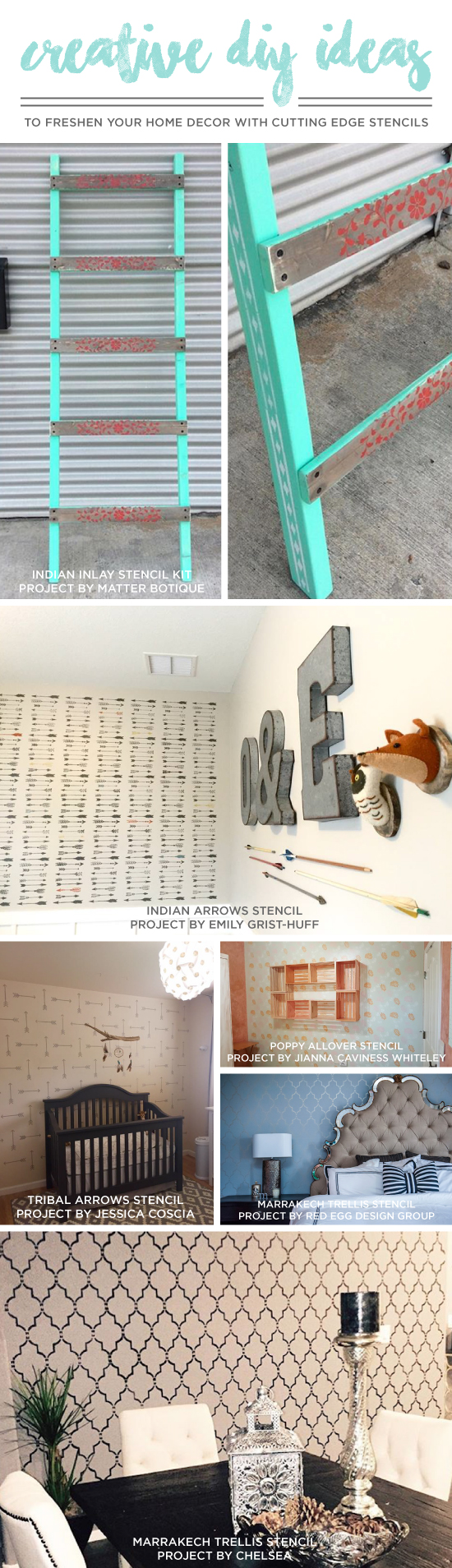 Cutting Edge Stencils shares quick and easy home decorprojects using stencils. http://www.cuttingedgestencils.com/wall-stencils.html