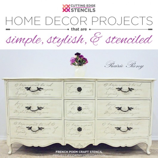 Cutting Edge Stencils shares DIY simple and quick stenciled home decor projects that instantly add wow to your home. http://www.cuttingedgestencils.com/wall-stencils-stencil-designs.html