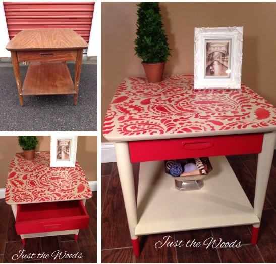 One Stencil Three Stenciled Furniture Projects