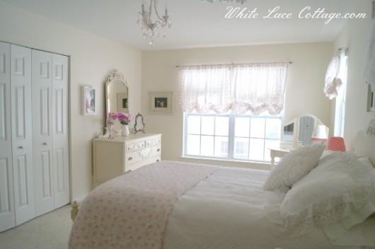 A girls bedroom before its teen makeover using stencils. http://www.cuttingedgestencils.com/flower-stencil-zinnia-wall.html