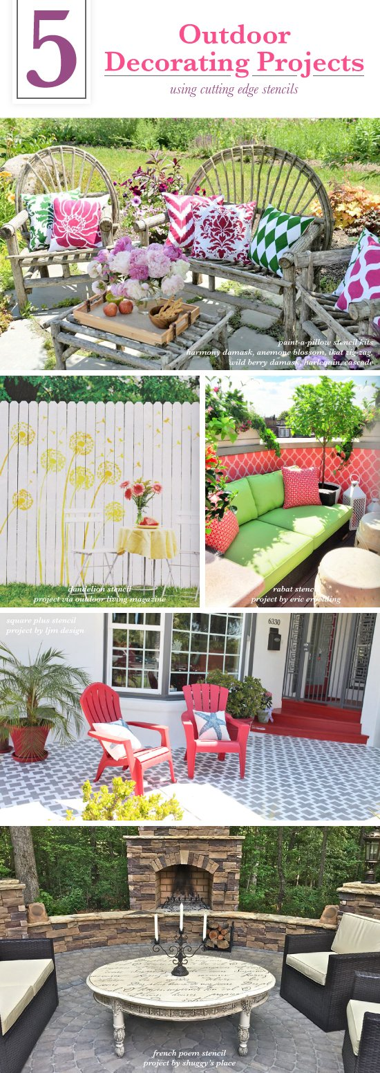 5 Outdoor Decorating Projects Using Stencils