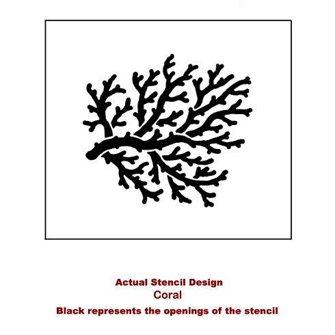 The Coral Stencil from Cutting Edge Stencils. http://www.cuttingedgestencils.com/beach-style-decor-coral-stencil.html